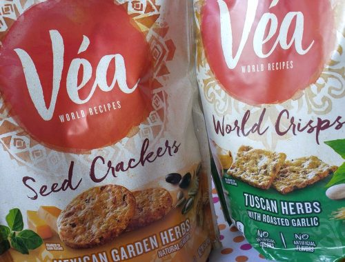 Two of the Vea World Snack crackers